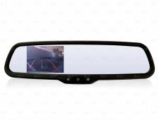 Зеркало заднего вида со встроенным монитором, функцией автозатемнения и штатным